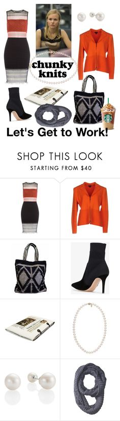 """Work"" by sallytcrosswell ❤ liked on Polyvore featuring Alexander Wang, Giorgio Armani, Gianvito Rossi, ASUS, Polo Ralph Lauren and chunkyknits"