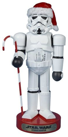 Star Wars Storm Trooper with Candy Cane 11 Inch Wooden Christmas Nutcracker