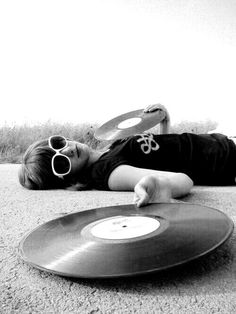 Girl with Vinyl record. #records #vinyl #music http://www.pinterest.com/TheHitman14/for-the-record/