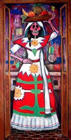 Catrina de Baja California Jesus Buenrostro Galicia - Artelista.com