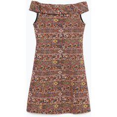 Zara Jacquard Dress (57 BRL) ❤ liked on Polyvore featuring dresses, vestidos, zara, jacquard dress and zara dresses