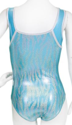 Blue Frost Squareneck Leotard  #leotards #leotard #gymnastgift #gymnast #gymnastics