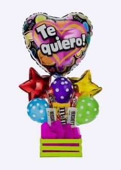 Candy Bouquet, Balloon Bouquet, Birthday Candy, Birthday Parties, Birthday Bouquet, Balloon Gift, Chocolate Bouquet, Candy Gifts, Craft Gifts