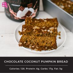 Chocolate really makes everything better... pumpkin bread included! And the bonus?! This bread is packed with protein! Win win.