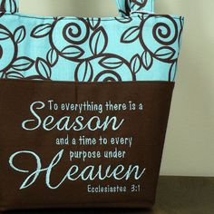 Bible+SCRIPTURE+PURSE++Ecclesiastes+31+French+by+LauriesGiftsBiz,+$50.00