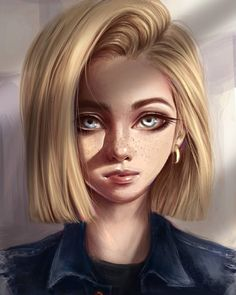 Android 18 Attempted to draw this character in a realistic style. Hope you like it ~ . #drawing #digitalart #android18 #dragonballz