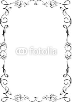 #Ornamental #Frame-#Vector © #Bluedarkat - on #Fotolia! Doodle Frames, Pyrography Patterns, Page Borders, Borders For Paper, Leather Pattern, Coloring Sheets, Pencil Drawings, Printables, Diy Crafts