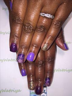 Wonderful Nail Creation byWatoiya #nails #naturalnails #soakoffgelpolish #purplenails #watoiyawonder #glitternails #ombrenails @bbtsalon #bbtsalon #bywatoiya #AnotherWatoiyaWonder