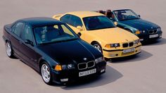 BMW E36 BLACK, YELLOW