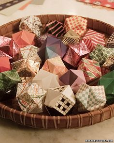 Origami Gift Bags - A few simple folds create a gift bag that's ideal for holding party favors or snacks.