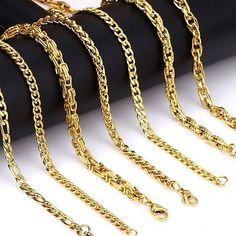 13cb16545ae4 5mm Gold Chain Necklace For Men Women