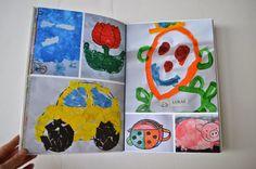 mama van vijf, wat een geweldige oplossing voor die stroom aan tekeningen: maak er foto's van en stel een fotoboek samen!