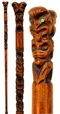 Exotic Canes Walking Sticks | this carved wooden walking stick is longer ...