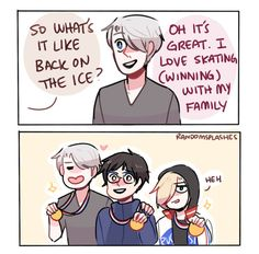 YOI: PODIUM FAMILY by Randomsplashes on DeviantArt