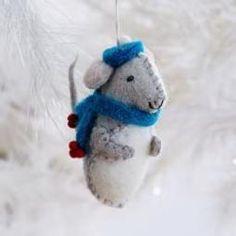 Felt Boy Mouse Ornament