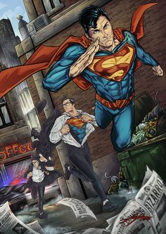Clark Kent to Superman Superman Artwork, Batman Y Superman, Superman News, Superman Wallpaper, Superman Family, Superman Man Of Steel, Wonder Woman Comic, Superman Wonder Woman, Justice League