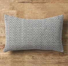 Chevron Tapestry Weave Lumbar Pillow for Banquette (click through to RH website to see alternate photo on dark greige chair)   Resto Hdwr   Final Sale $30