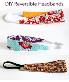 DIY Reversible Headbands...for someone who is inexperienced with the sewing machine, these look like they'd be easy enough to make!  Cute, too.