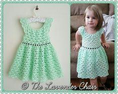 Gemstone Lace Dress Crochet Pattern PDF by TheLavenderChair