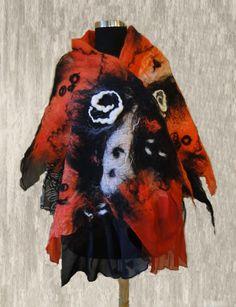 Nuno felted scarf by BEAUTYINFELT on Etsy