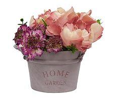 Flores artificiales con maceta Azura - altura 20 cm