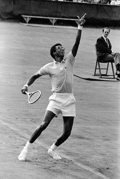 arthur ashe - used to watch him play on Tv with my mum.
