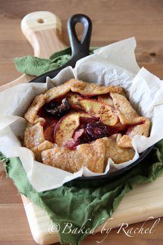 Skillet Cherry Peach Pies @Rachel {Baked by Rachel}
