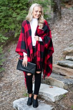 Cardigans - Monogrammed, Solid, Patterned, Lightweight, Long Cardigan – The Mint Julep Boutique Red And Black Plaid, Plaid Fashion, Long Cardigan, Plaid Pattern, Shawl, Kimono Top, Mint, Boutiques, Cardigans