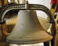 """Vintage Perin & Gaff 20"""" Cast Iron School, Ranch, Farm Bell"""