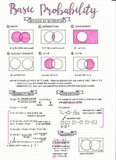 Study / Notes Inspiration - Study Tips Gcse Maths Revision, Revision Notes, Study Notes, Science Revision, Revision Tips, Book Notes, Statistics Math, Statistics Cheat Sheet, Bullet Journal