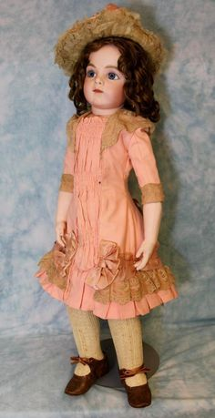 "Antique 30"" sz 11 Bru Jne Bebe French Bisque Doll by Leon Casimir Bru from…"