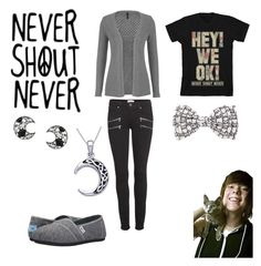 """""""Never Shout Never"""" by sayandycanfly on Polyvore featuring maurices, Paige Denim, TOMS, claire's and Carolina Glamour Collection"""