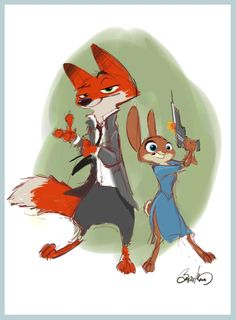 1 of my erly Nick&Judy sketches from 3 years ago...amazing 2 finally see movie materialize #Zootopia @DisneyAnimation
