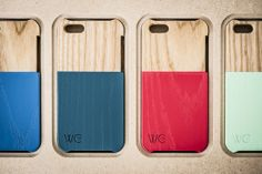 colorful wood iphone covers