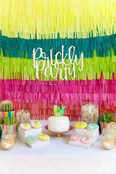 """I have been wanting to put together a cactus themed party for a LONG time. More exact… a """"prickly… The post DIY CACTUS PARTY appeared first on Tell Love and Party."""