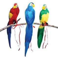 Honeycomb Parrot 38cm Decoration Paradise Bird Pirate Pet Polly Animal Party