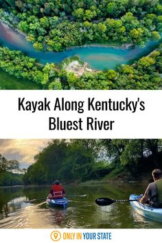 The best place to kayak in Kentucky, the beautiful Blueway On The Green is a colorful river that belongs on your bucket list. Paddle past hidden waterfalls and more! Cheap Travel, Us Travel, Places To Travel, Travel Destinations, Places To Visit, Hidden Beach, Bus Conversion, Dream Vacations, Waterfalls
