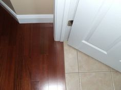 How To Transition Hardwood and Tile Floors