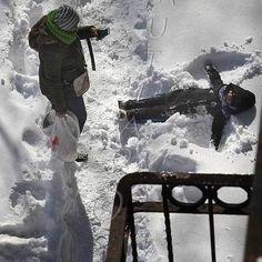Snow Angel in Snowmageddon