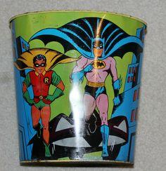 VINTAGE 1966 CHEIN BATMAN & ROBIN TIN TRASHCAN | eBay