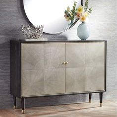 """Luna 47 1/4"""" Wide Espresso Wood Finish Modern Cabinet - #78W28 