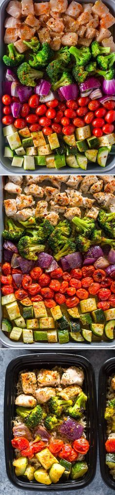 Meal Prep Healthy Chicken and Veggies 2019 Looks very pretty but I'm sure it won't look like that when I cook it. The post Meal Prep Healthy Chicken and Veggies 2019 appeared first on Lunch Diy. Healthy Meal Prep, Healthy Snacks, Healthy Eating, Healthy Recipes, Keto Recipes, Veggie Meal Prep, Easy Meal Prep, Vegetarian Meals, Quick Recipes