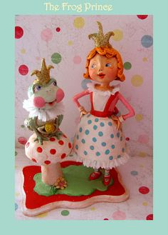 *PAPER CLAY ~ The Frog Prince by thepolkadotpixie, via Flickr