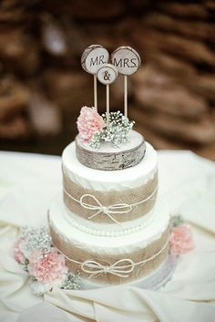 Small Rustic Wedding Cakes On A Budget ❤ See more: http://www.weddingforward.com/small-rustic-wedding-cakes/ #weddingforward #bride #bridal #wedding