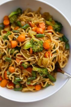 Ramen Stir Fry Prepackaged ramen noodles cooked and stir fried with tons of veggies in a homemade sweet asian sauce. The tastiest noodles ready in 20 minutes! Top Ramen Recipes, Stir Fry Recipes, Shrimp Recipes, Asian Recipes, Cooking Recipes, Noodle Recipes, Asian Foods, Vegetarian Recipes, Healthy Recipes