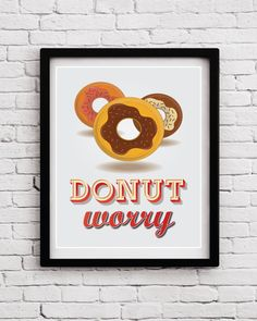 Funny Donut Quote Kitchen Decor  Donut Kitchen by BlackPelican