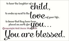 A Child Is A Blessing Wall Decal Quote Lettering Saying
