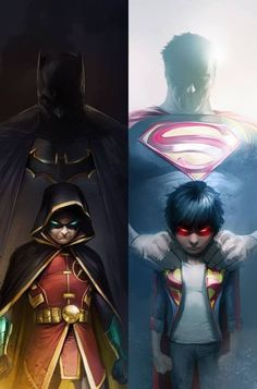 Super Sons of Batman & Superman Posters Batman, Poster Marvel, Arte Dc Comics, Marvel Comics, Comic Book Characters, Comic Character, Comic Books Art, Comic Art, Superman