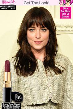Dakota Johnson's Sleek Hair & Perfect Lipstick At ChanelShow