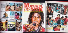 Michael Jackson Story - French Comic Book - Marcello Haywood - Hachette - Printed in Spain - 1988